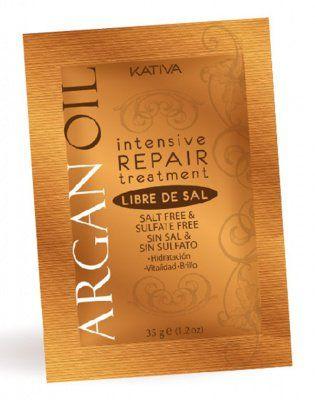Маска для волос с маслом Арганы интенсивно восстанавливающая увлажняющая ARGAN OIL Kativa, 35 гр.*12 шт. от Kativa за 139 руб!