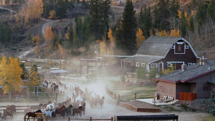 C Lazy U Ranch: City slickers can live their cowboy dreams in rustic-luxe digs at C Lazy U Ranch.