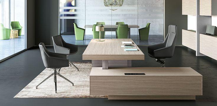 Moderne kontorpulter Jera by Las Mobili