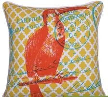 Toucan Yellow Print Cushion
