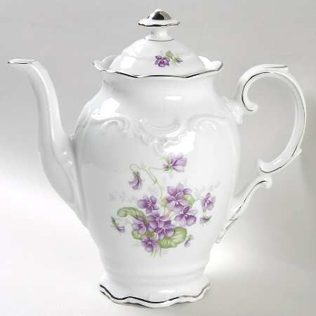 Quot Violette Quot China Pattern With Purple Flowers Amp Platinum