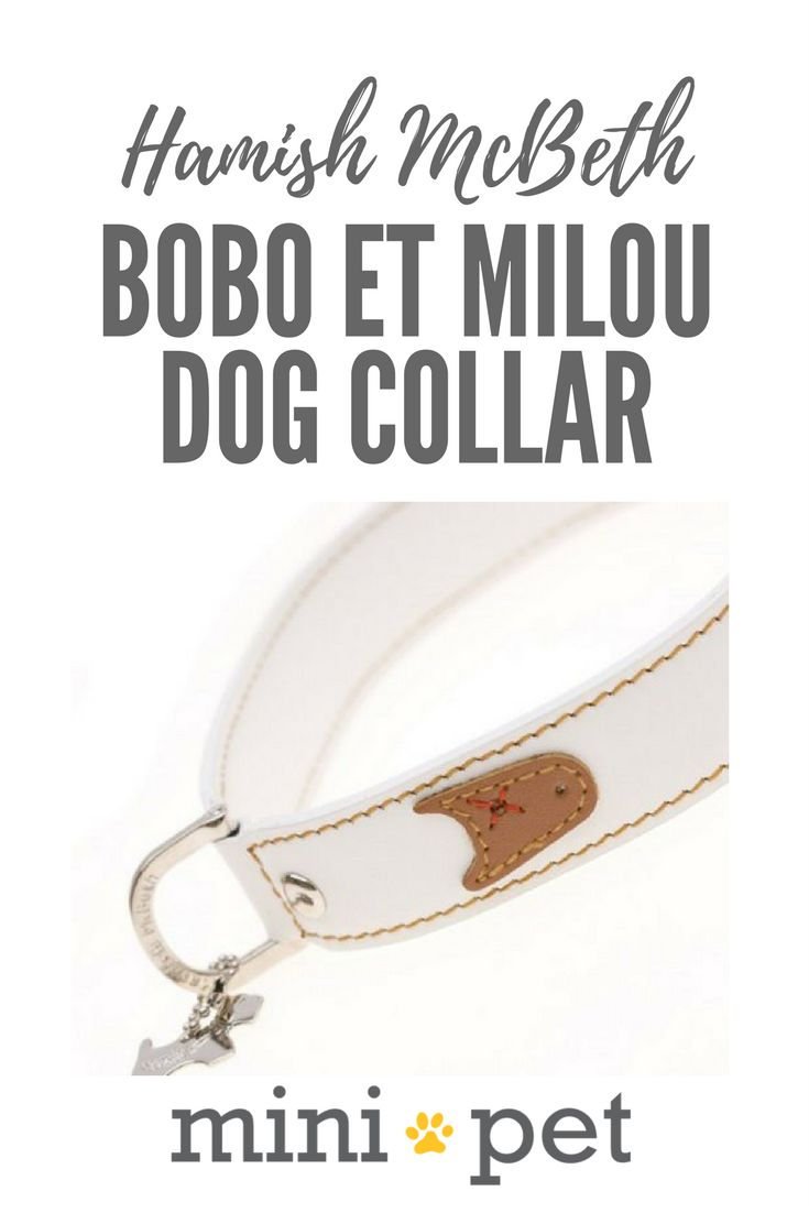 [SALE] We love the Bobo et Milou dog collar! It features cute little dog characters on a stylish white leather dog collar. The little black and brown dog faces are adorable! Our Bobo et Milou dog collar is made from luxury top grain leather with a buttery smooth texture