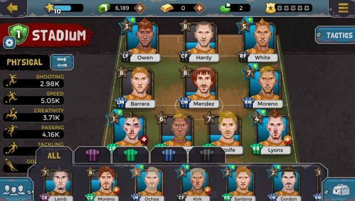 Underworld Soccer Manager 18 is a Free Android Football Manager Sport Mobile Multiplayer Game featuring online football games for free against real life opponents in the league and tournaments