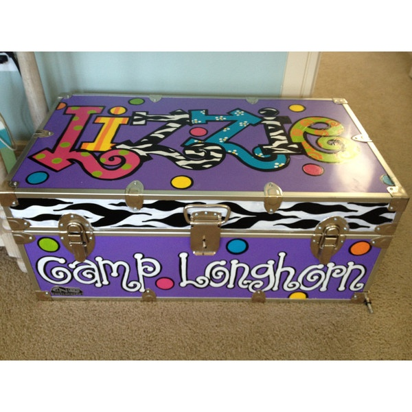 Personalized Hand-painted camp trunk