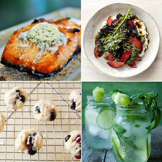 Grilled Salmon With Thai Cucumber Basil Salad Recipes — Dishmaps