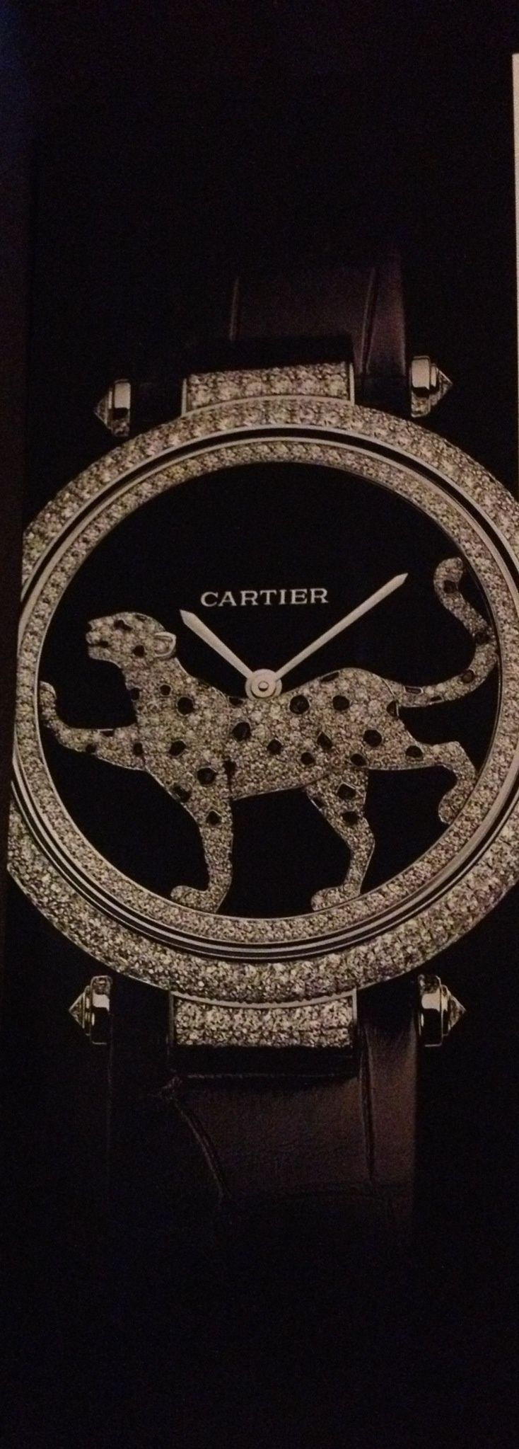 Lion'esque watch uncovered! When it's that amazing, it's price upon request. #Cartier