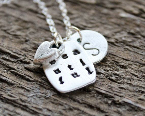 Personalized Inspirational Initial  Necklace of recycled pure precious silver by 2sistershandcrafted on Etsy as received by Nia Peeples for her daughter.