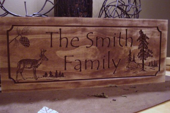Rustic Family Last Name Welcome Signs Pine By