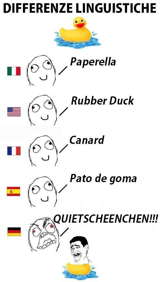 differenze linguistiche - rubber duck