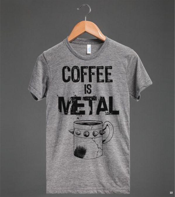 """As camisetas divertidas e estampadas da Skreened com a temática """"café""""."""