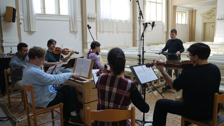 David and baroque orchestra recording a new CD