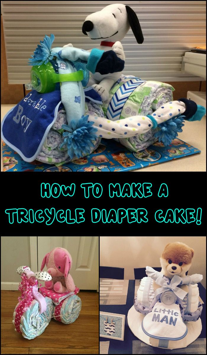This Tricycle Diaper Cake is a Clever and Adorable Baby Shower Gift Idea!