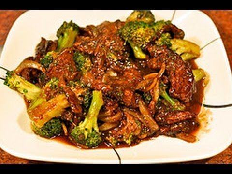 This is a healthy version of beef with broccoli that taste great.     6 oz sliced beef (I used Flank Steak)    Marinade:  1/2 Tablespoon Rice Wine  1/2 Tablespoon Dark Soy Sauce  1 Tablespoon Corn Starch    Sauce:  1/4 Cup chicken Stock  1 Tablespoon Hoisin Sauce  1 Tablespoon Oyster Sauce  1 Tablespoon Brown Sugar   1/2 Tablespoon Dark Soy sauce  1 teaspoon S...