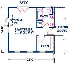 floor plan for adding a master suite - Google Search                                                                                                                                                     More