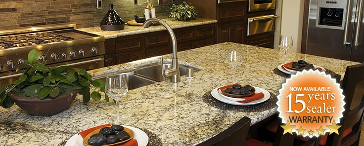 15 Year sealer. Kitchen care, Caring for granite