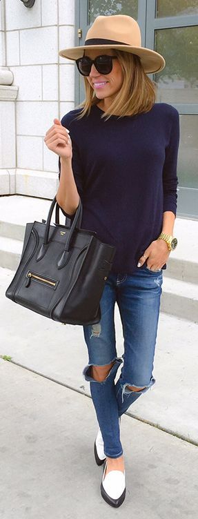 how to pair navy + black