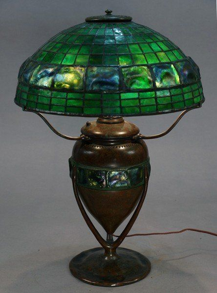 Impressive Tiffany Studios Turtle Back Table Lamp