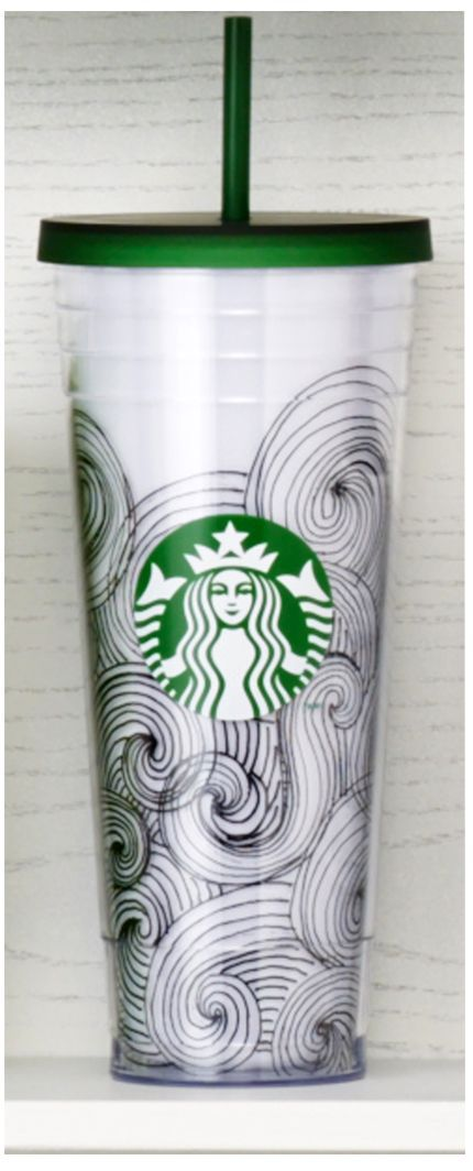 Acrylic Cold Cup featuring a whimsical wave design and our Siren logo. #Starbucks #DotCollection