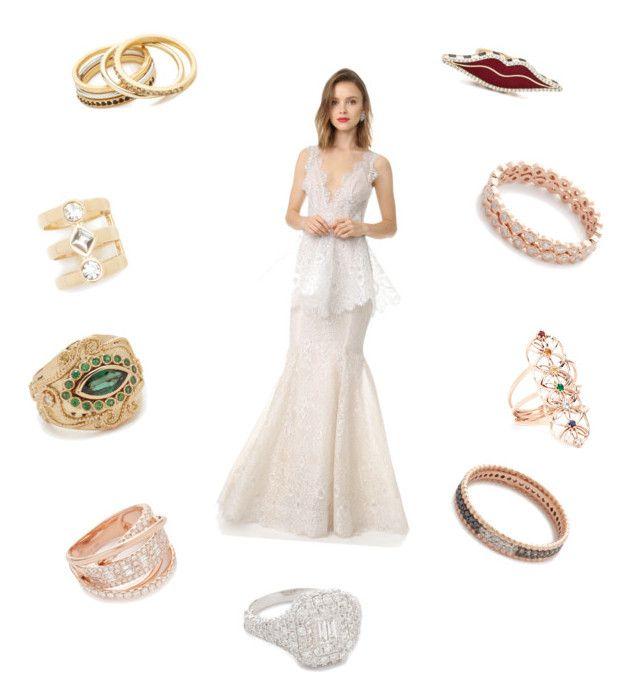 """bridal shop"" by ramakumari on Polyvore featuring Madewell, Aurélie Bidermann, Shay, Holly Dyment, Marchesa, Rebecca Minkoff, Jacquie Aiche and Kismet by Milka"