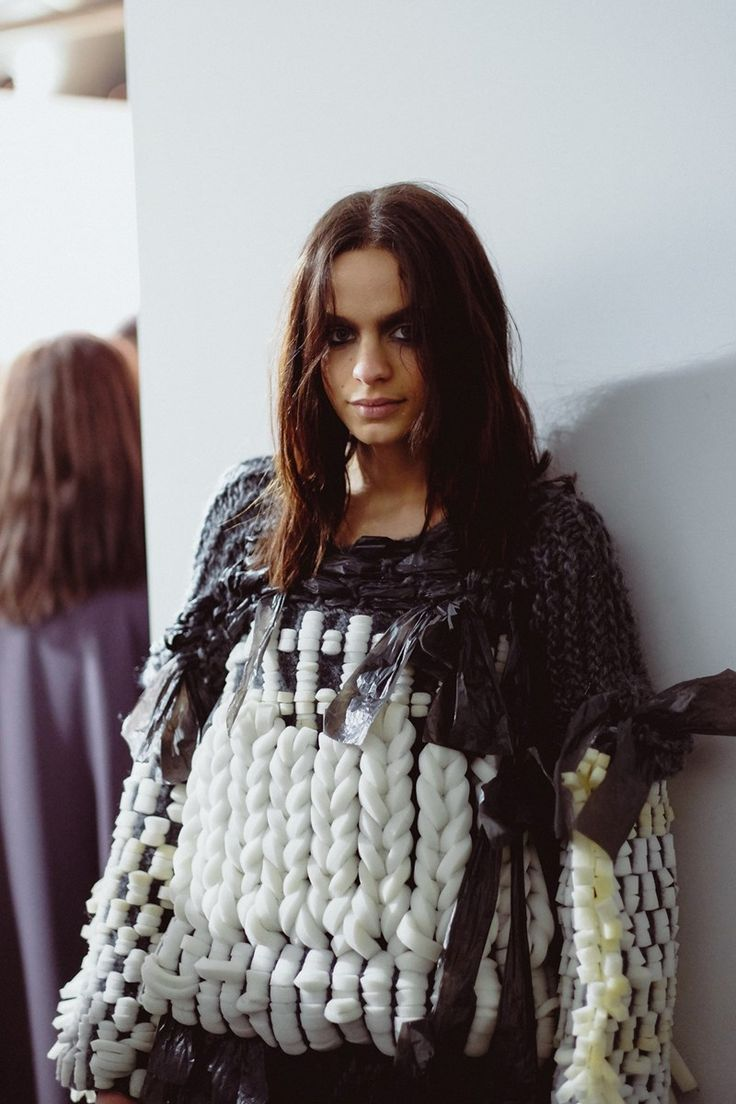Central Saint Martins 2015: recycled yarn, upcycled sweater.