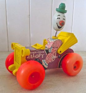Vintage 1965 Collection. Jalopy de Fisher Price. En bois