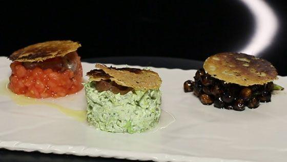 - Concassé de tomates - Pois chiche caramélisés- Salade croquante frisée et sa chantilly au cresson