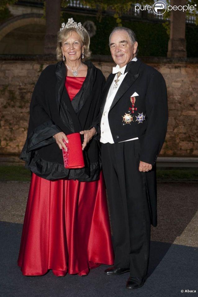 The Princess Marie Louise of Prussia and Count zu Schoenburg-Glauchau Rudolf