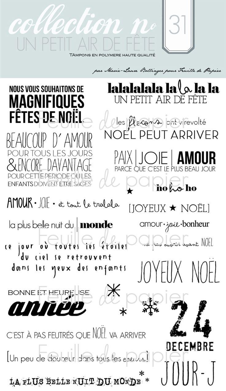 MATERIEL > Tampons > Marie-Laure Bollinger pour Feuille de papier > Collections N° 31 Un petit air de fête - Feuille de papier - Kits en lig...