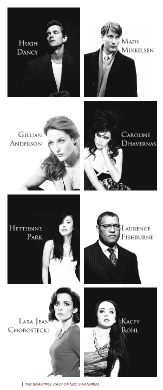 The beautiful cast of NBC's Hannibal