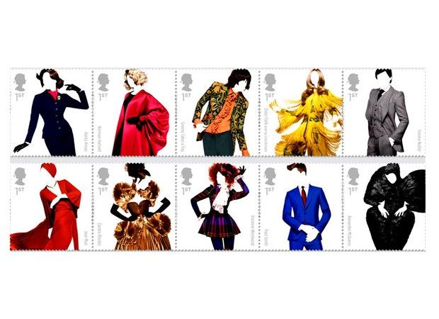 Moda inglesa é homenageada em série especial de selos