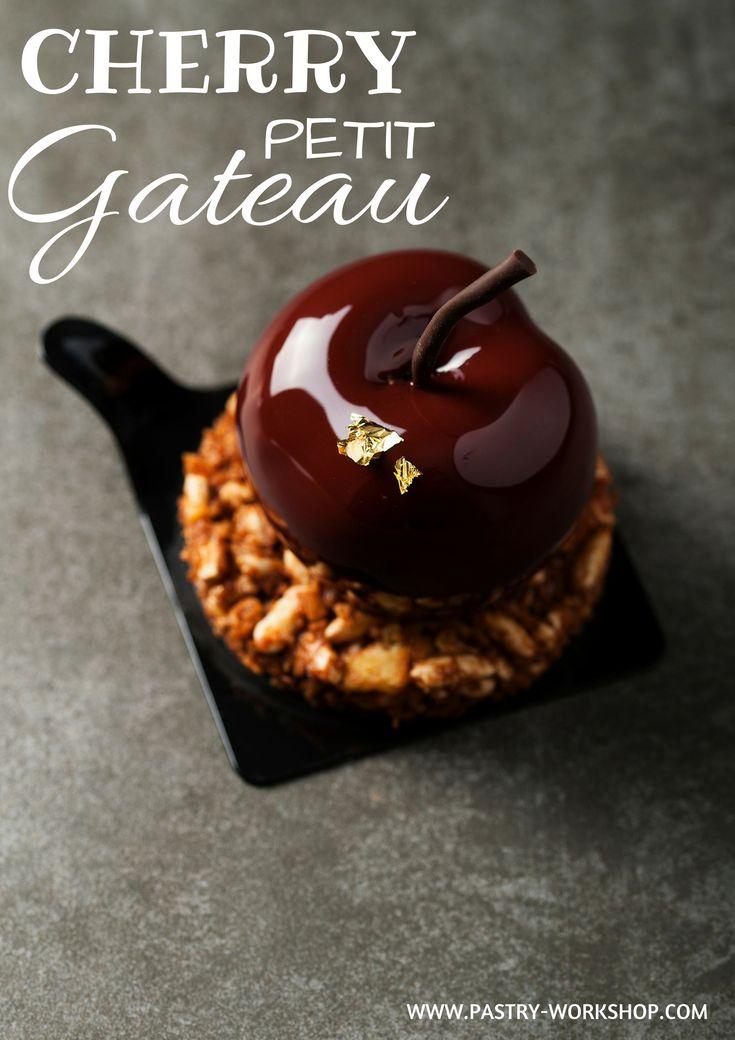 Cherry Petit Gateau - chocolate mousse, cherry insert, crunchy base