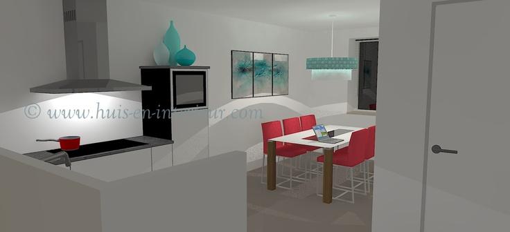 ibbA Almere - ontwerp 2 - in de aparte eetkamer zit je ook prettig als je op je laptop aan het werk bent
