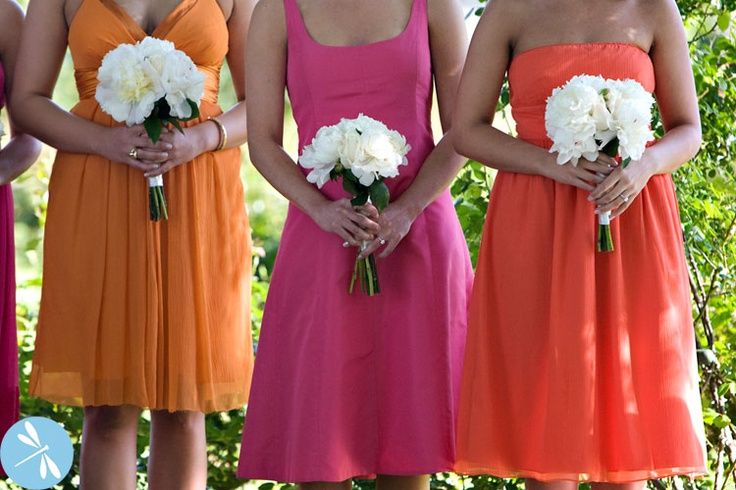 May wedding colors w/ white flowers?! Except dresses will be pink and green.