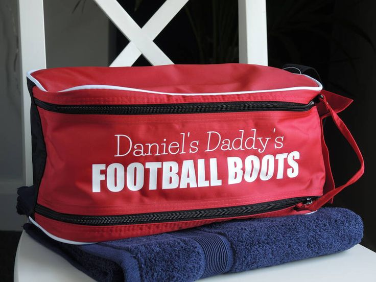 I've just found Personalised Football Boot Bag. A practical personalised bootbag for a footballing Dad or Grandad.. £17.60