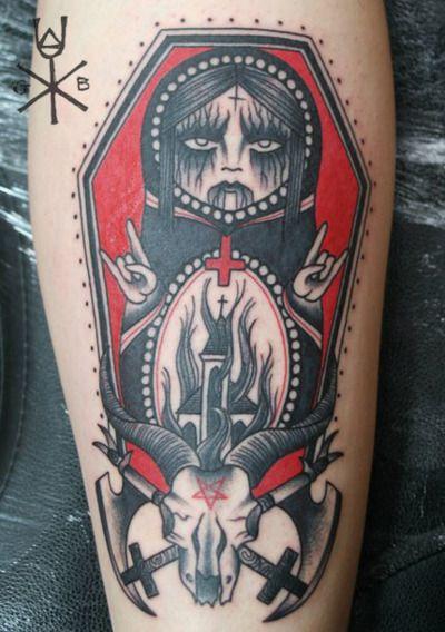 black metal unholy tattoo