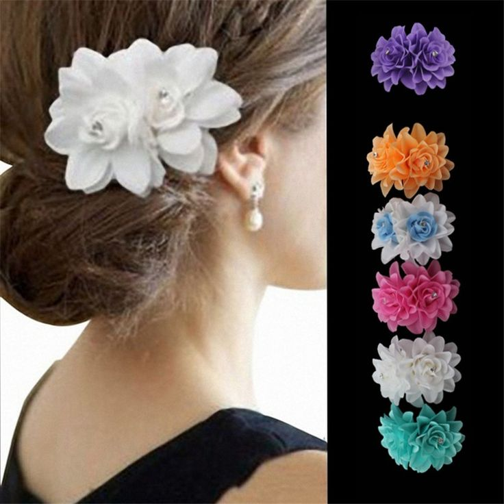 Women Hairband Hair Clip Pin Party Headwear Crystal Barrette Bridal Flower Hairpin Wedding Hair Accessories