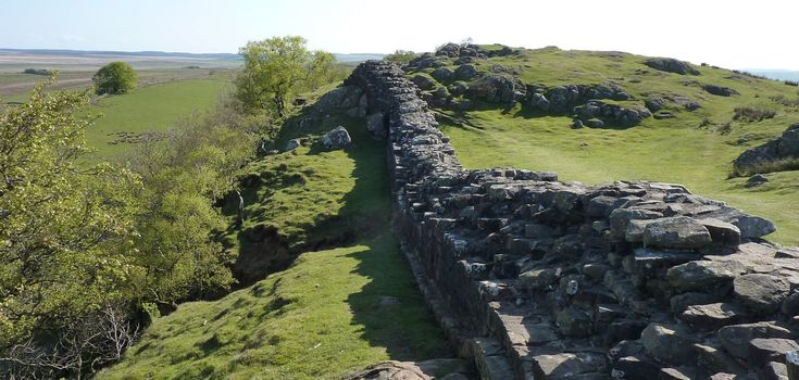 Hadrian's Wall near Walltown Quarry