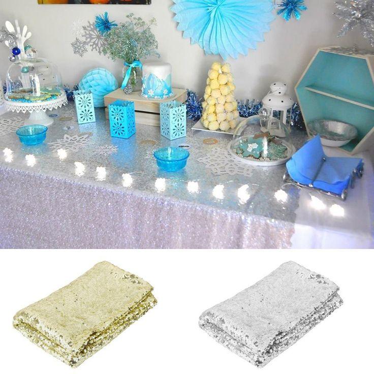 Aliexpress.com: Buy Obdĺžnikový flitre Obrus Svadobné Obrus dekorácie Gold flitre Obrus na svadbu / Party / banket zo spoľahlivých dodávateľov plátený odev skladovacie tašky na PICKEGG