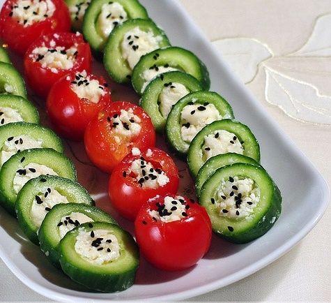 ikramlık salata sunumları