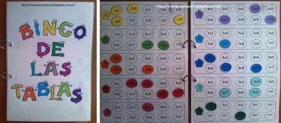 Material Manipulativo el bingo de las tablas de multiplicar Editable 1