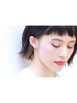 クラフト ヘア デザイン CRAFT HAIR DESIGNパッツン外ハネBOB×インナーカラー