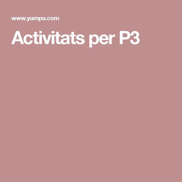 Activitats per P3