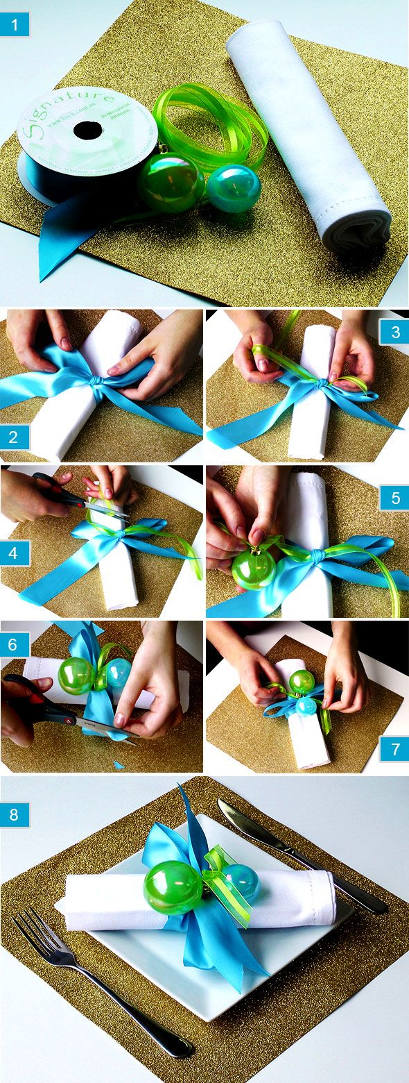 Make Christmas Napkin Holders - DIY Xmas Decor - The Koch Blog