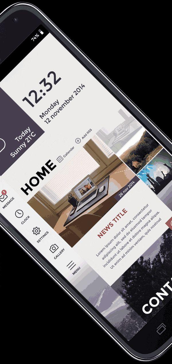 PROGBOSS - Launcher App LOGO   UI Concept [GIF] on Behance