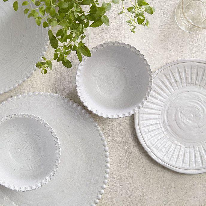Lille White Dinnerware 12 Piece Set Dinnerware White Dinnerware Ballard Designs White dinnerware sets for 12