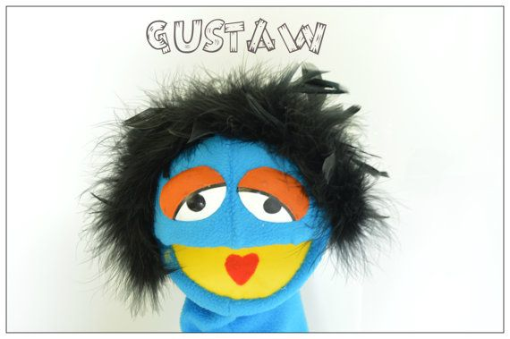Hand Muppet, Handmade Muppet-Style, Muppet arm rod puppet, muppet style puppet #07