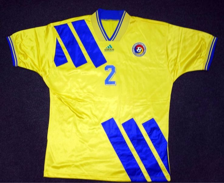Original DAN PETRESCU Match Worn Shirt Israel Vs Romania, 14 December 1994 #Adidas