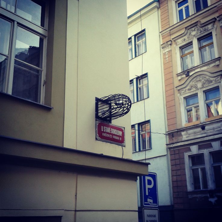 Security camera in a cage:) Krymská street area, Prague phenomenon, place to explore and enjoy your instagram orgy:)