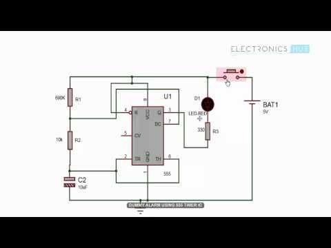 Surprising Dummy Alarm Circuit Using 555 Timer Ic Electronic Circuit Design Wiring Database Scataclesi4X4Andersnl