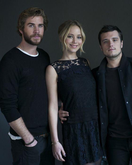 Liam Hemsworth, Jennifer Lawrence et Josh Hutcherson - Quarter Quell